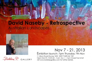 David Naseby Exhibition Card